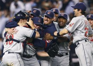 Indians roll over the Yankees in 2007 (REUTERS/MIKE SEGAR)