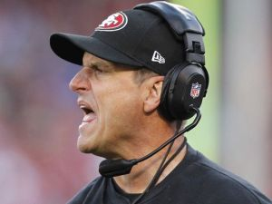 Happy Harbaugh says no (Photo: Cary Edmondson, USA TODAY Sports)